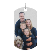 Dog Tag Photo Necklace (X-Large)