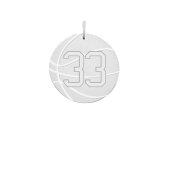 Engravable Sports Basketball Necklace